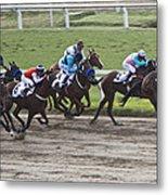 Gran Premio Nacional Horse Racing In Buenos Aries Metal Print