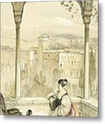Granada , Plate 9 From Sketches Metal Print