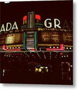 Night Lights Granada Theater Metal Print