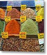 Grand Bazaar Spices In Istanbul Metal Print