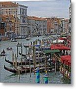 Grand Canal From Rialto Bridge Metal Print