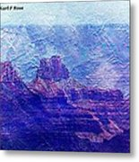 Grand Canyon As A Painting 2 Metal Print