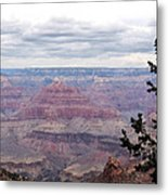 Grand Canyon Awaiting Snowstorm Metal Print