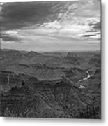 Grand Canyon Black And White Metal Print