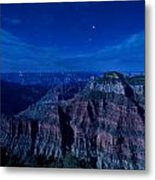 Grand Canyon In Moonlight Metal Print