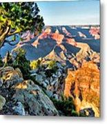 Grand Canyon Ledge Metal Print