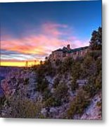 Grand Canyon Lodge Metal Print