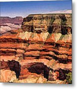 Grand Canyon Mesa Panorama Metal Print