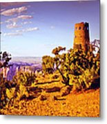 Grand Canyon National Park Golden Hour Watchtower Metal Print