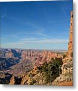 Grand Canyon National Park Mary Colter Designed Desert View Watchtower Near Sunset Metal Print