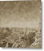 Grand Canyon National Park Mary Colter Designed Desert View Watchtower Vintage Metal Print