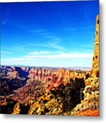 Grand Canyon National Park Mary Colter Designed Desert View Watchtower Vivid Metal Print