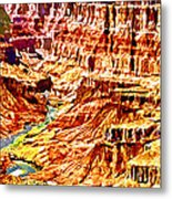 Grand Canyon Navajo Painting Metal Print