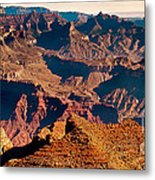 Grand Canyon Navajo Point Panorama At Sunrise Metal Print