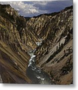 Grand Canyon Of The Yellowstone - 25x63 Metal Print