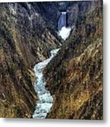 Grand Canyon Of Yellowstone - From Artist Point Metal Print