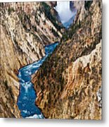 Grand Canyon Of Yellowstone Metal Print by Bill Gallagher