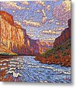 Grand Canyon Riffle Metal Print