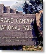 Grand Canyon Signage Metal Print