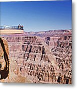 Grand Canyon Skywalk, Eagle Point, West Metal Print