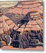 Grand Canyon Travel Poster 1938 Metal Print