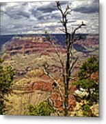 Grand Canyon View From The South Rim Metal Print