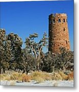 Grand Canyon Watch Tower Metal Print