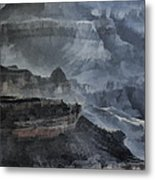 Grand Canyon Watercolor Metal Print