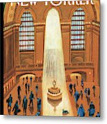 Grand Central Heating Metal Print