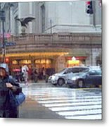 Grand Central Rain - 42nd Street Metal Print