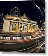 Grand Central Station And Chrysler Building Metal Print