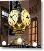 Grand Central Station Clock Metal Print