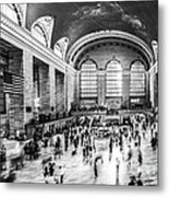 Grand Central Station -pano Bw Metal Print