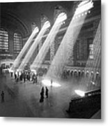 Grand Central Station Sunbeams Metal Print