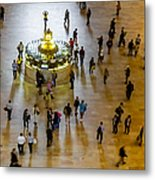 Grand Central Terminal Clock Birds Eye View  Metal Print