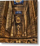 Grand Central Terminal Station Chandeliers Metal Print