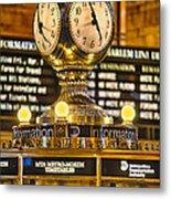 Grand Cerntral Terminal Clock No. 1 Metal Print