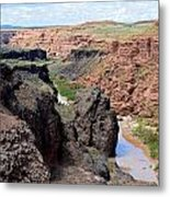 Grand Falls Viewpoint Metal Print by Carrie Putz
