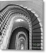 Grand Flora Stairwell Rome Italy Metal Print