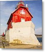 Grand Haven Pier Lighthouse Metal Print