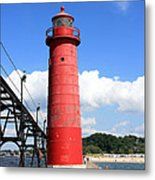 Grand Haven Rear Light Metal Print