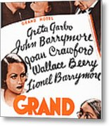 Grand Hotel, Us Poster, Top From Left Metal Print
