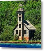 Grand Island East Channel Light Metal Print
