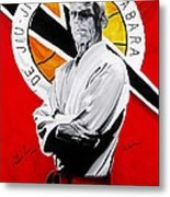 Grand Master Helio Gracie Metal Print