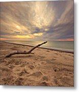 Grand Mere Sunset - Driftwood Metal Print