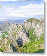 Grand Mountain And Farm  Metal Print