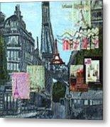 Grand Ole Paris-postcard From Paris Metal Print