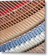 Grand Piano Strings Metal Print