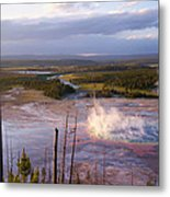 Grand Prismatic At Dusk Metal Print