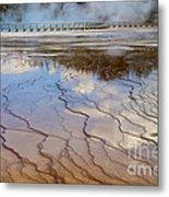 Grand Prismatic Runoff - Yellowstone Metal Print